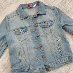 H&M divided lighted blue denim jacket
